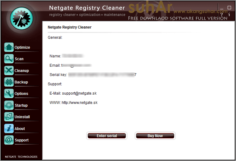 Free download software utilities NETGATE Registry Cleaner 17 Full serial number terbaru gratis crack keygen patch license key activation code latest version www.akangsuhar.com , NETGATE Registry Cleaner 2018