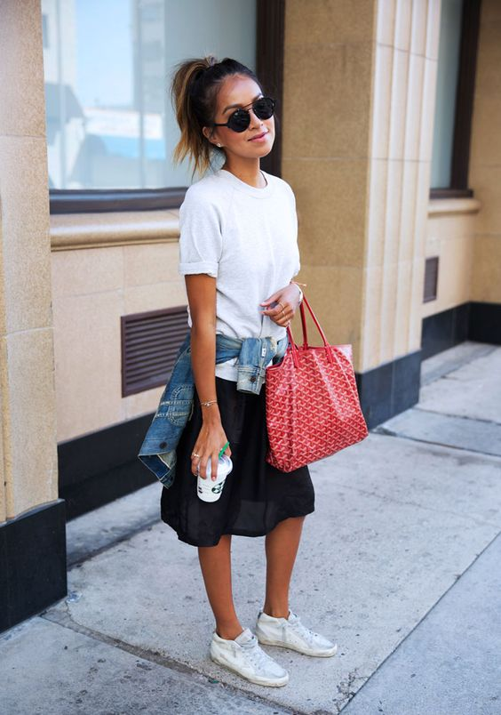 Sincerely Jules Red Goyard Bag Street Style