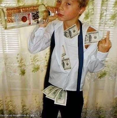 Lustige Kinderbilder Wodka und viel Geld Spaß Bilder