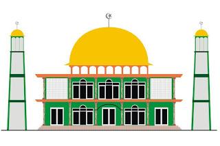 Gambar Kartun Masjid Cantik dan Lucu 201718