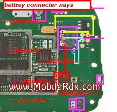 nokia+x1 01+baterry+connecter+ways - Nokia X1-01 Battery Connector Track Ways
