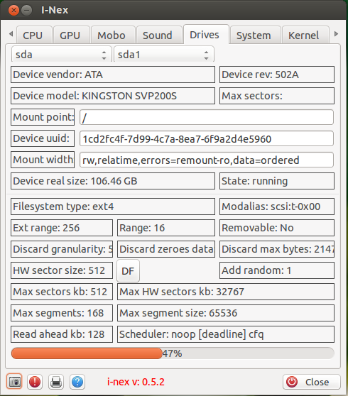 I-Nex: Tool To List Hardware Information In Linux, Similar To CPU-Z