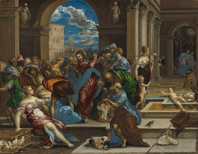 vers-szombat, vers, hit, Jézus, Kufárok kiűzése, El Greco