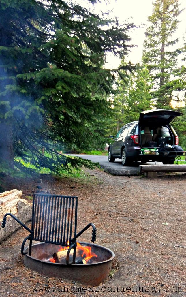 Nuestra primera experiencia acampando en Yellowstone by www.unamexicanaenusa.com