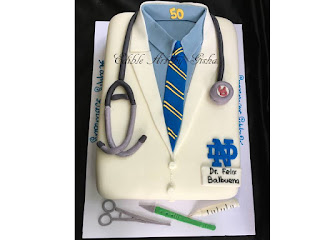 Notre Dame And Uof D Graduate Doctor Cake For A 50th Birthday