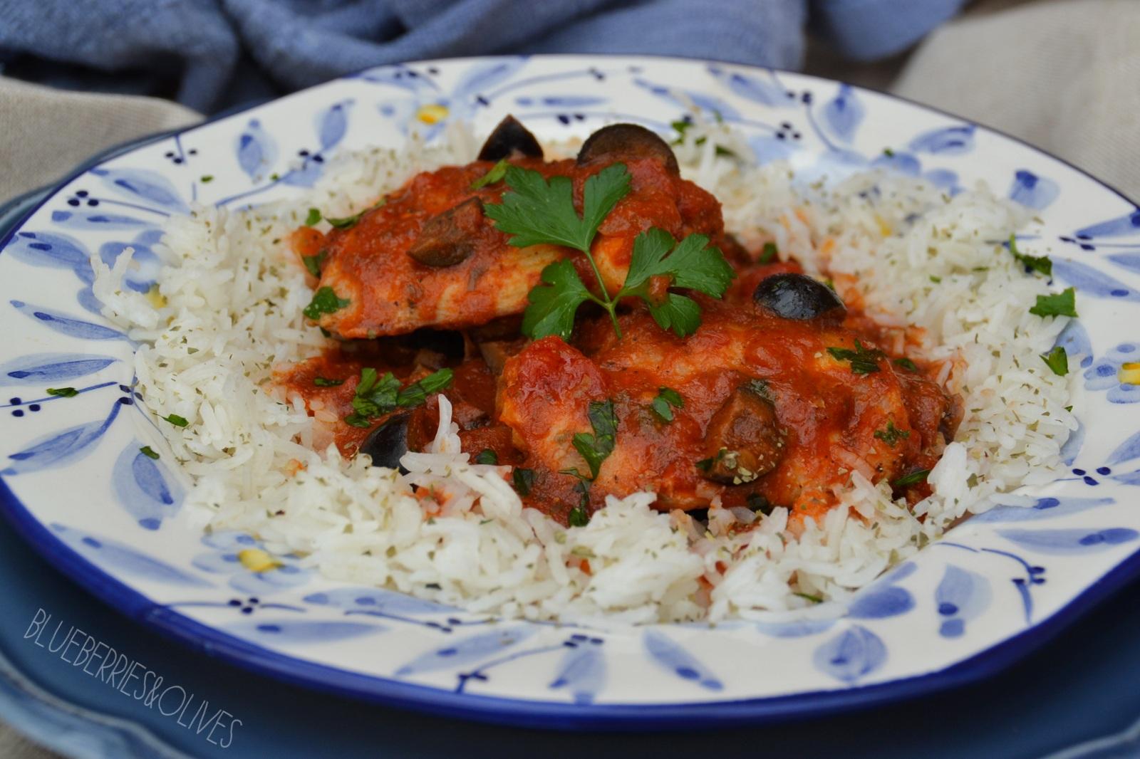 Pollo en salsa turca 1