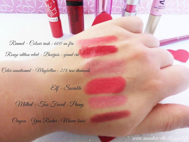 swatch 6 rouges à lèvres sublimes pour la Saint-Valentin
