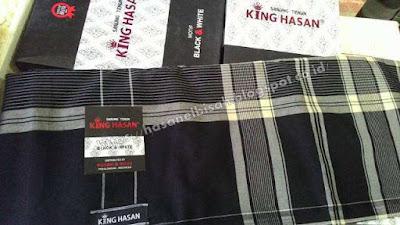 Sarung King Hasan Black And White