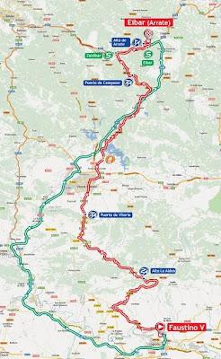 Mapa Vuelta España Etapa 3