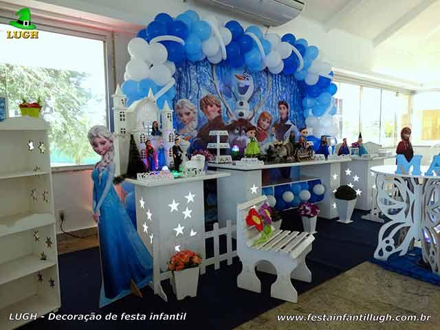 Frozen - Uma Aventura Congelante - Decoração provençal para festa de aniversário