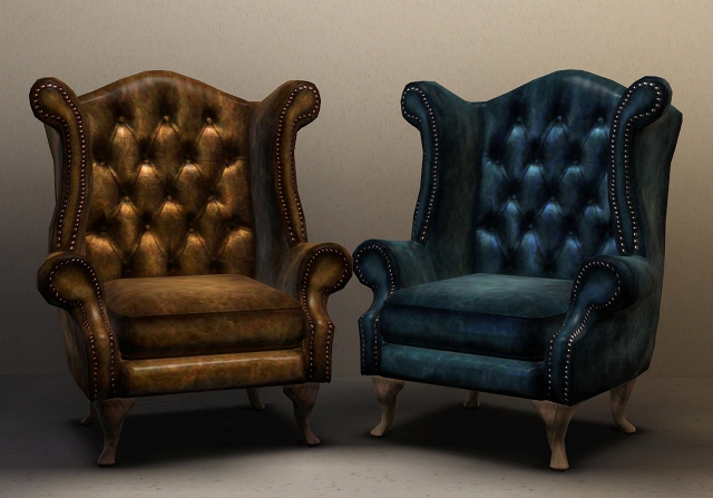My Sims 3 Blog Chesterfield Queen Anne Wing Chair By Pocci