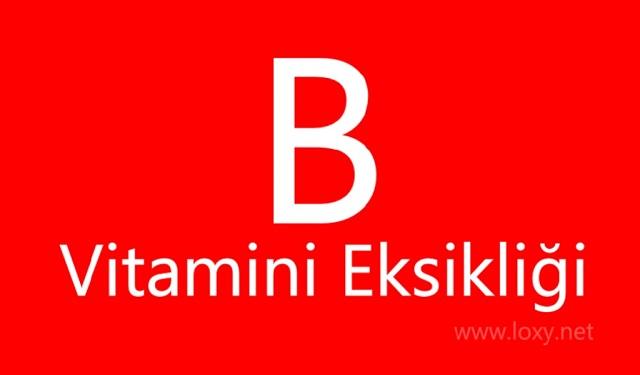b vitamini eksikliği belirtileri