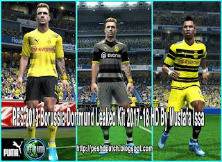 PES 2013 Borussia Dortmund Leaked Kit 2017-18 HD By Mustafa Issa