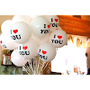 Balon Latex Printing I LOVE YOU