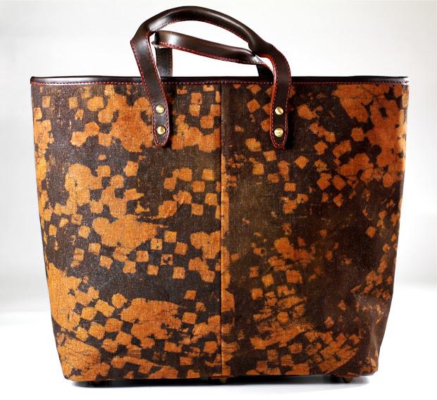 Gidan Nodza Nana Tote Leather And Canvas-leather