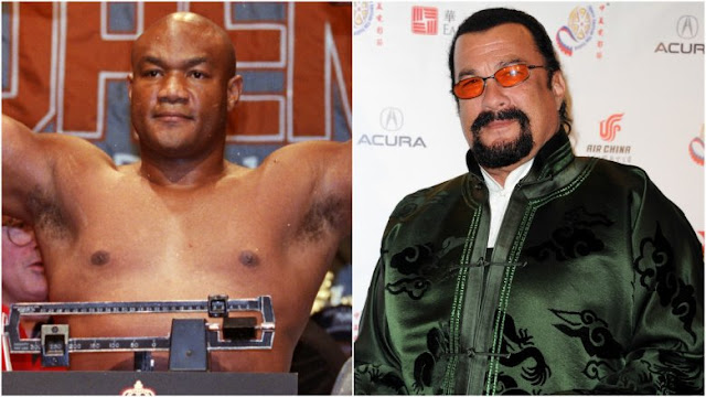 George Foreman vs Steven Seagal. StrengthFighter.com