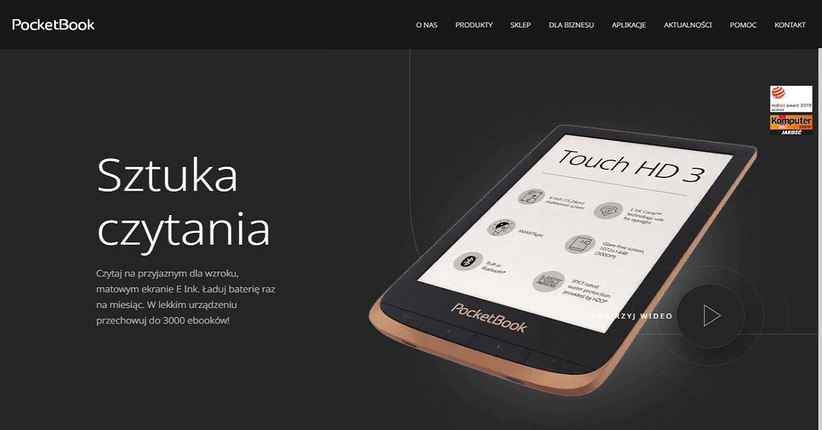 Nowa strona firmy PocketBook