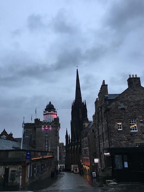 Edinburgh Old Town Royal Mile at Night