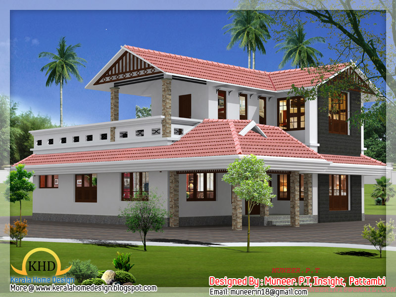 Beautiful home elevation designs in 3d indian home decor for Beautiful small house plans in kerala