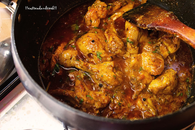 how to make Ginger Chicken Curry / Murgh Adraki recipe and preparation with step by step pictures