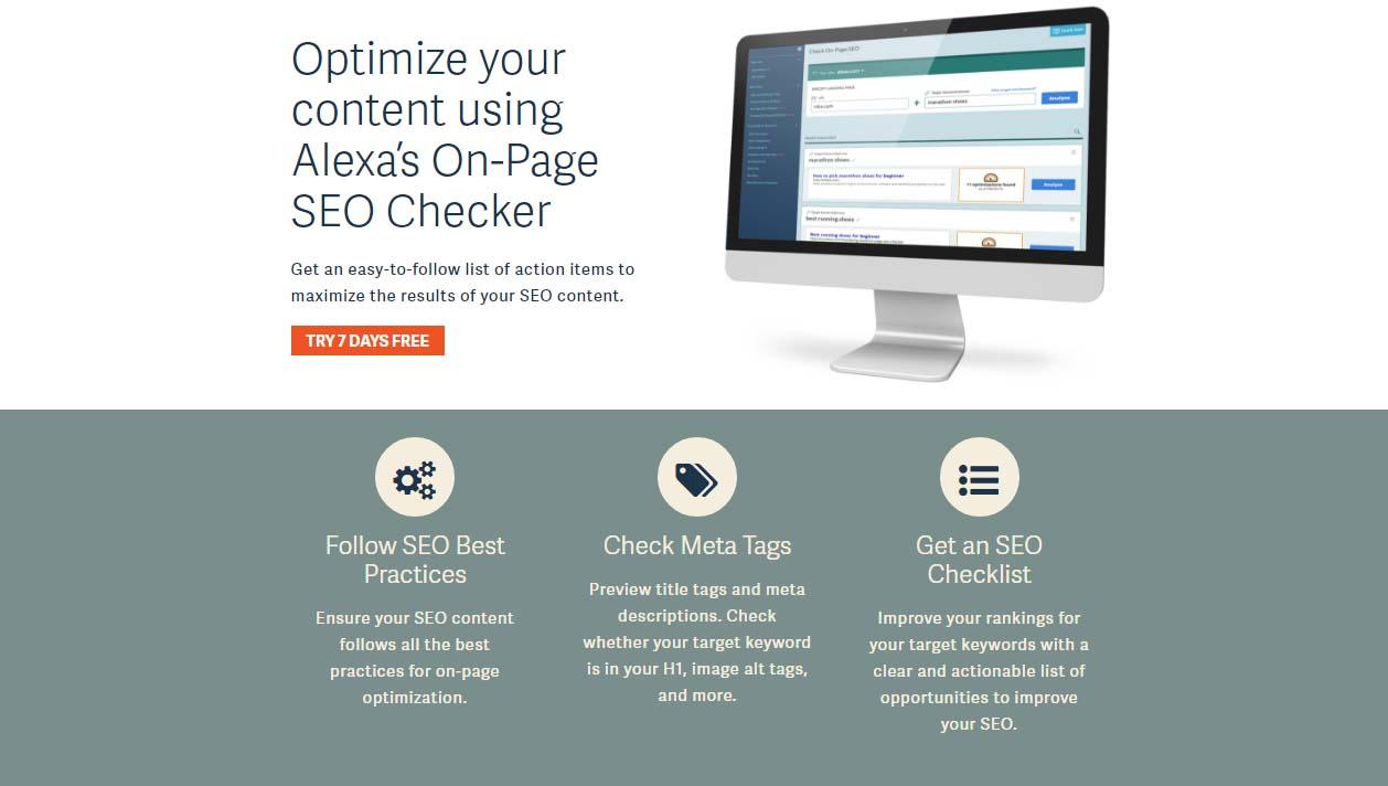 alexa on page seo checker