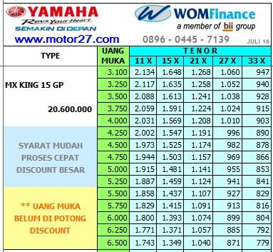 Yamaha MX KING GP