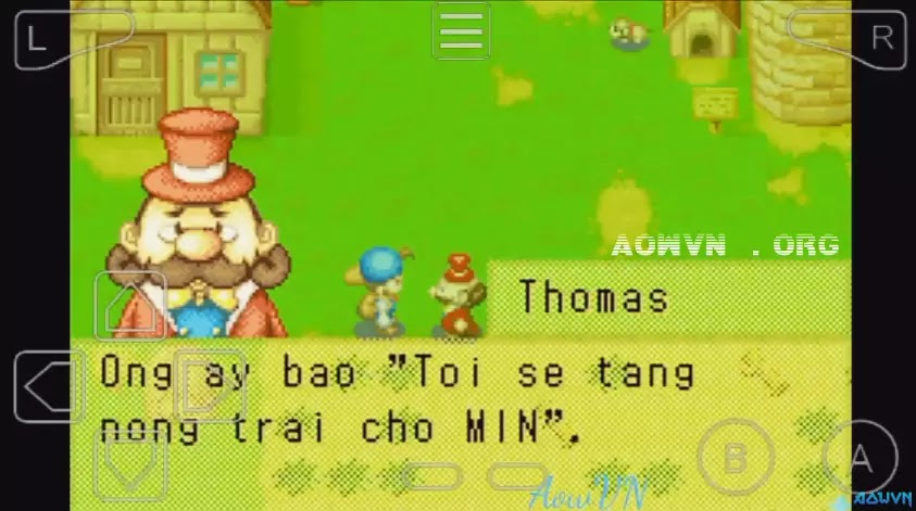 Harvest Moon AowVN.org m%2B%25281%2529 - [ GBA ] Harvest Moon Friend of Mineral Town + More Friend | Game Việt Hóa