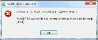 ERROR: S_DL_SCAT_INCORRECT_FORMAT