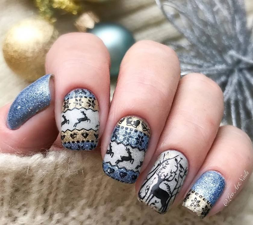 Another Cute Deer Stamping Nails BORN PRETTY One Of The Hottest Christmas Plate Snowflake Snowman Socks Hats Tree And So