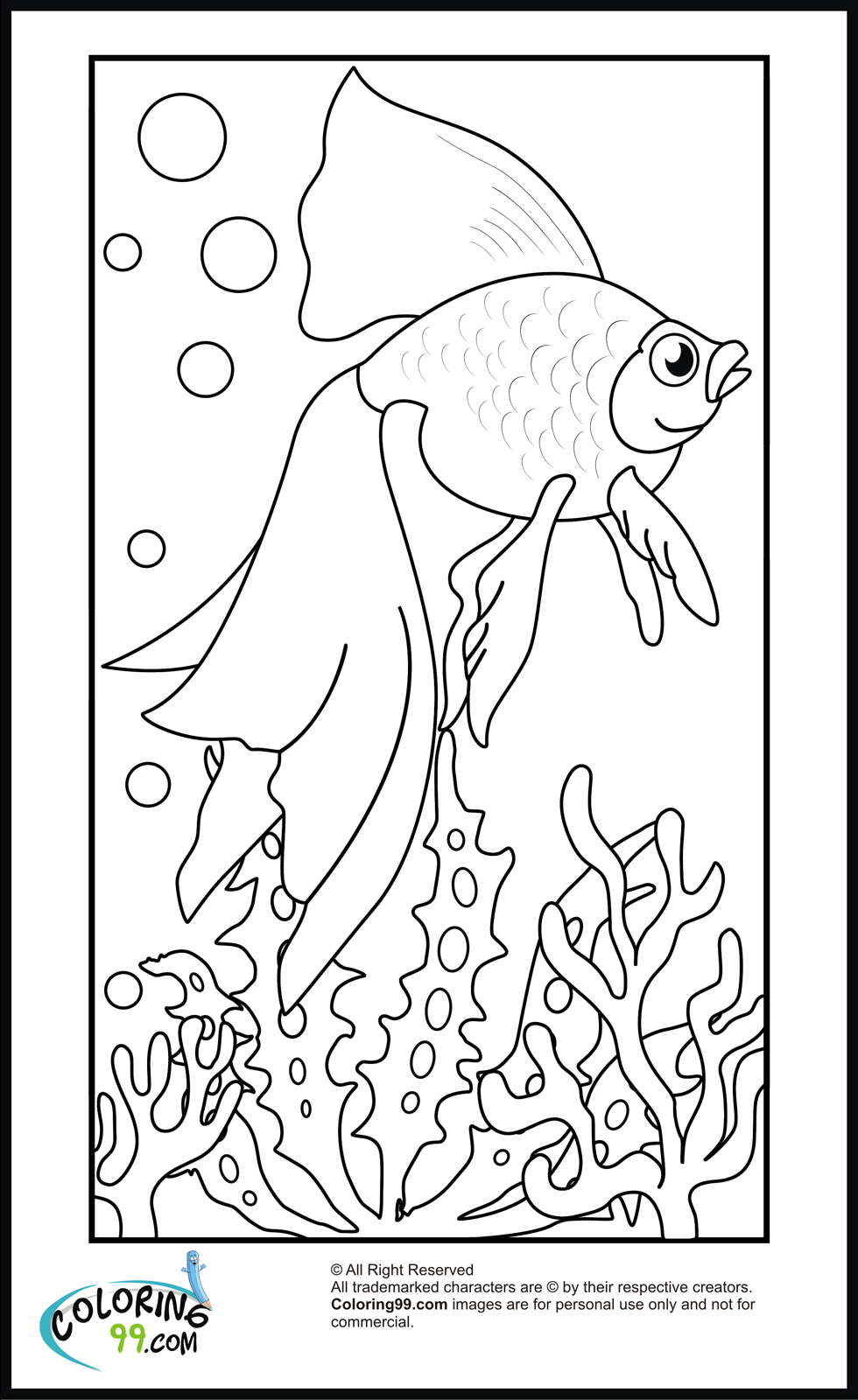 Goldfish Coloring Pages | Minister Coloring | colouring pages online printable