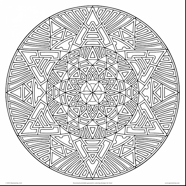 Magnificent Geometric Mandala Coloring Pages With Hard Coloring Pages For  Adults And Difficult Coloring Pages For