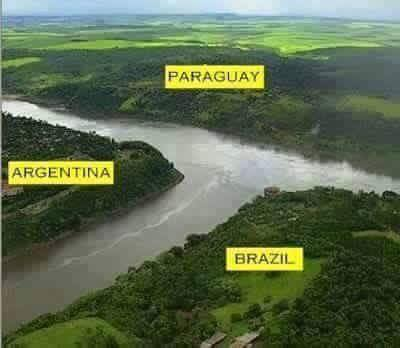 Argentina, Paraguay & Brazil World's Amazing Border Lines