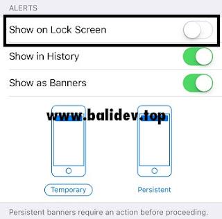 Pengaturan Notifikasi aplikasi di iPhone