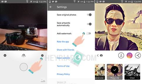 Cara Hapus Logo Watermark Prisma di Android