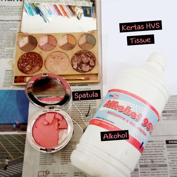 Alat dan Bahan Perbaiki Cosmetics Pallete Pecah
