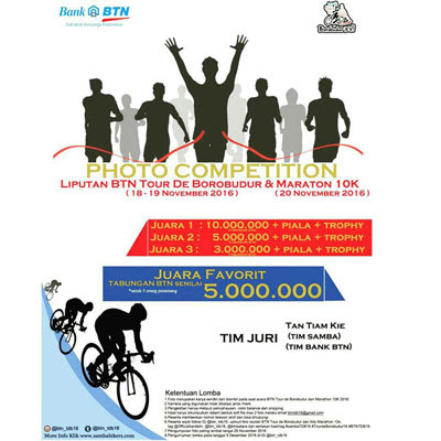 Photo Competition BTN Tour de Borobudur & Marathon 10K