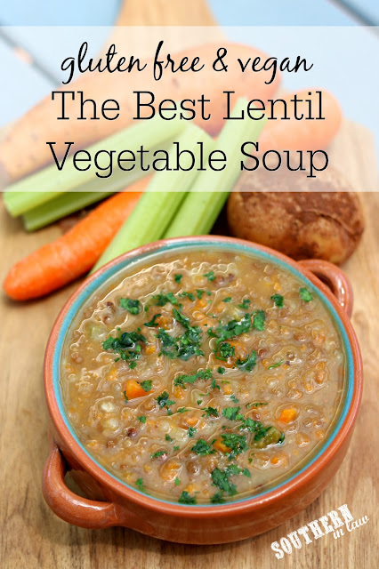 The Best Lentil Vegetable Soup Recipe - gluten free, vegan, clean eating recipe, meal prep recipe, vegetarian, meat free, tomato free