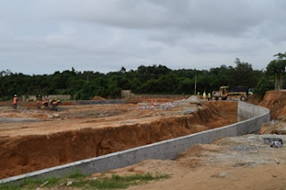 Ongoing construction of engineered sanitary landfill in Epe