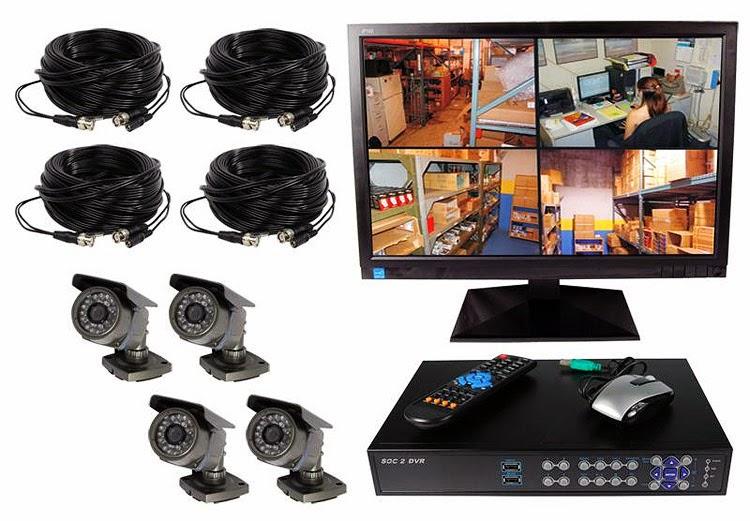 Home Surveillance System 4 Channels