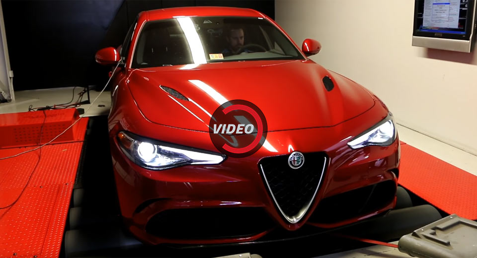 alfa romeo giulia quadrifoglio gets dyno 39 d with surprising results. Black Bedroom Furniture Sets. Home Design Ideas