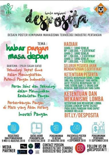 Lomba Nasional Desposita (Desain Poster) SMA Sederajat di ITI