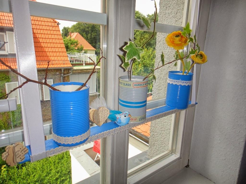Ines felix kreatives zum nachmachen fensterdeko mit dosen for Fenster deko