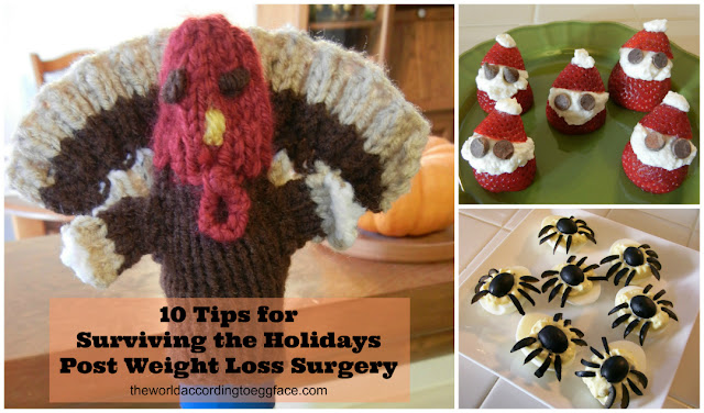 Halloween Thanksgiving Christmas New Years Bariatric Surgery Weight Loss Gastric Bypass Vertical Sleeve Recipes Tips Food Menus