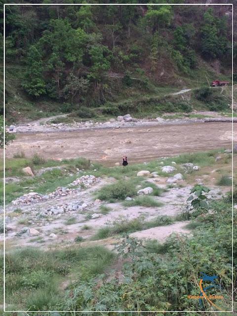 Rio Teesta ou Rio Tista, na Fronteira de Sikkim com Bengala Ocidental