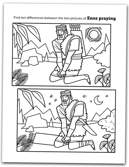 Spot The Difference From Book Of Mormon Coloring