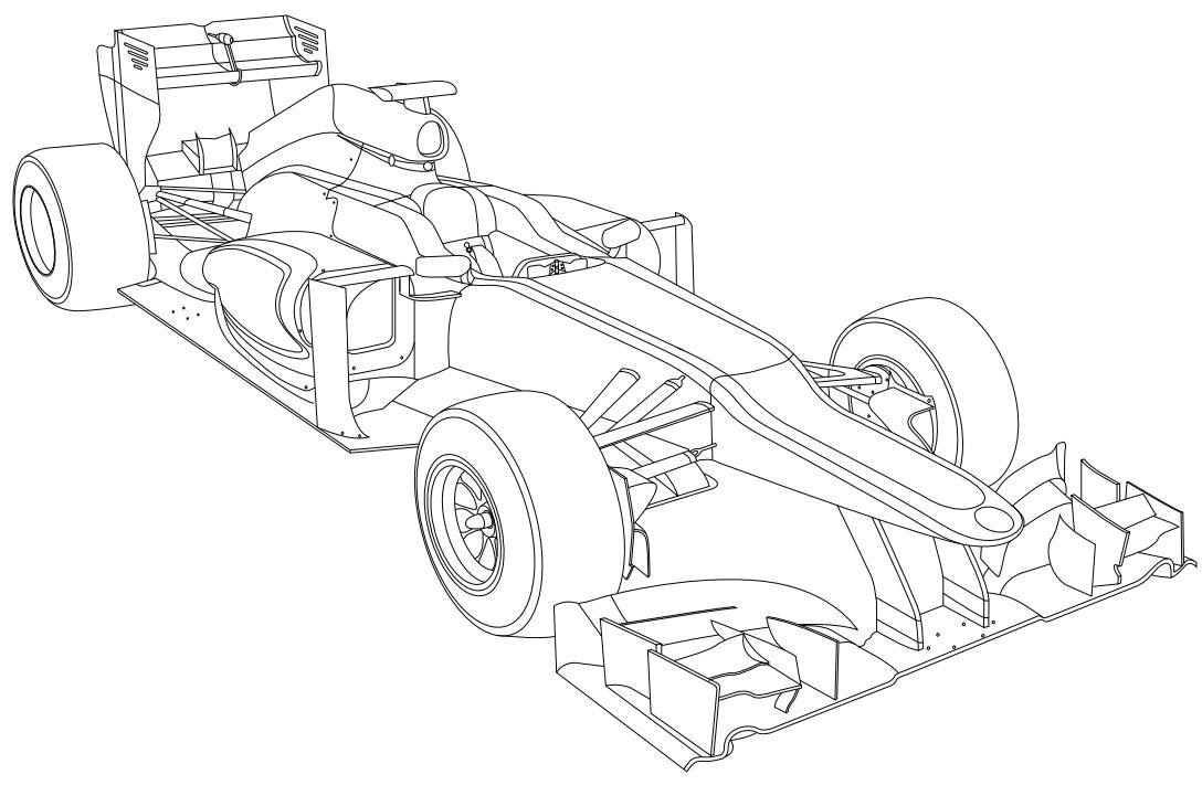 Kolorowanki Z Bolidami F1