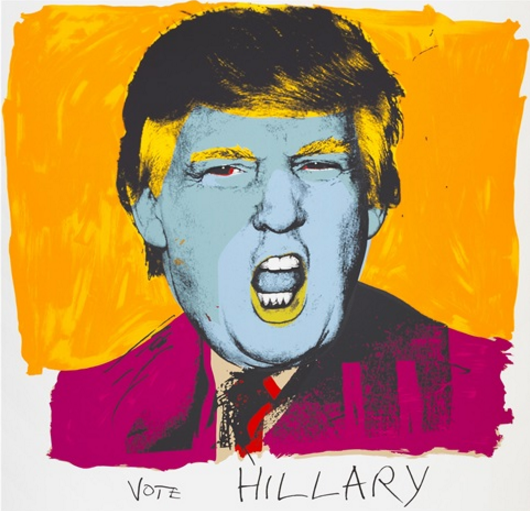 Political Art | TRUMP V'S OBAMA and a Litter Bit Of Clinton