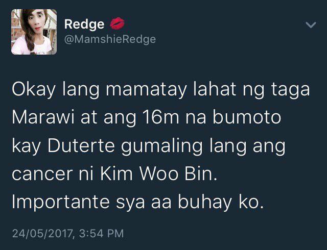 YELLOW SPOTTED: 'Okay lang mamatay lahat ng taga Marawi at ang 16M na bumoto kay Duterte'