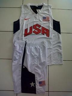 Jual Jersey Basket USA White di toko jersey jogja sumacomp, murah berkualitas
