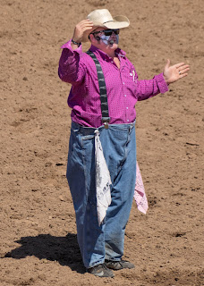 "justin ""rumpshaker"" rumford entertains cave creek rodeo crowd"